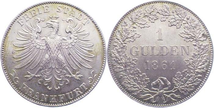 Frankfurt am Main zwei Gulden 1861