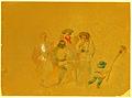 Franz Neuhauser the Younger - Schiţă pregătitoare pentru litografie Târg din Transilvania.jpg