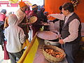 Free Food Distribution - Gangasagar Fair Transit Camp - Kolkata 2012-01-14 0606.JPG