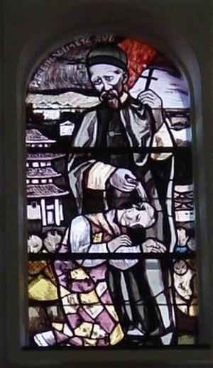 Joseph Freinademetz - Image: Freinadametz Kirchenfenster