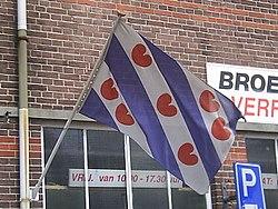 Fryske Flagge oan flaggestok.jpg