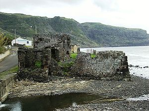 Almagreira (Vila do Porto) - The remains of the Fort of São João Baptista