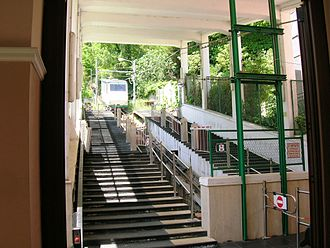 Montevergine funicular - Interior of the lower station