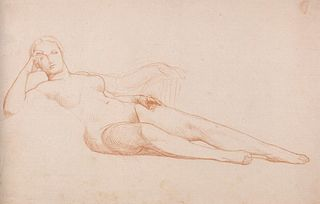 Étude de femme nue allongée