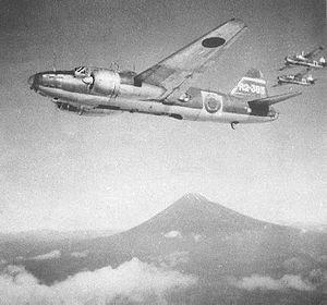 701st Naval Air Group - Mitsubishi G4M1 R2-385 of 702nd Attack Squadron in September 1944.