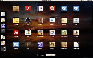 GNOME Shell with applications menu on Parsix 5.0 -- 2014-01.jpg