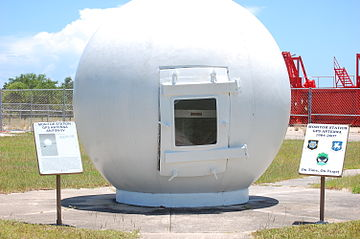 Ground monitor station used from 1984 to 2007, on display at the Air Force Space & Missile Museum. GPS monitor station.jpg