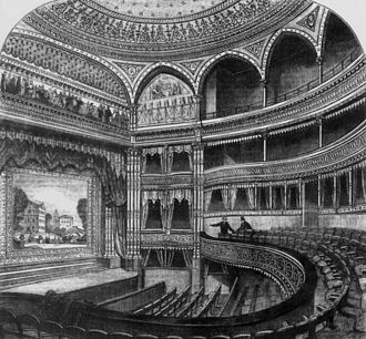 Gaiety Theatre, London - Interior of the Gaiety, 1869
