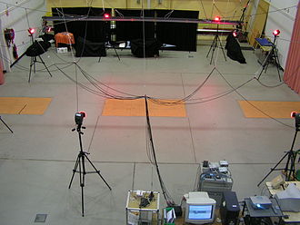 Gait analysis - Gait analysis laboratory equipped with infrared cameras and floor mounted force platforms