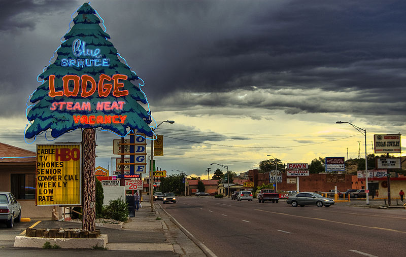 File:Gallup NM - street scenery and  clouds.jpg