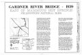 Gardner River Bridge, Spanning Gardner River at North Entrance Road, Lake, Teton County, WY HAER WYO,15-YELNAP,4- (sheet 1 of 3).png