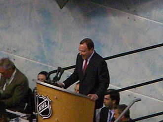 NHL commissioner - Bettman at the 2008 NHL Entry Draft