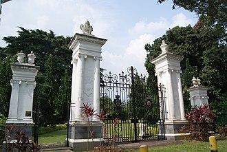 Bidadari Garden - The gate of the former Bidadari Cemetery, now located in Bidadari Garden at 10 Vernon Park, Singapore 367812.