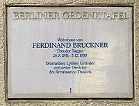 Gedenktafel Kaiserdamm 102 (Charl) Ferdinand Bruckner.JPG