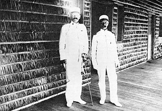 Jacob H. Smith - Smith with Major General Adna Chaffee in Tacoblan, Leyte, 1902