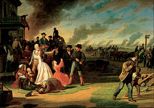 General Order No. 11 (1863) - George Caleb Bingham painting of General Order No. 11. In this famous work General Thomas Ewing is seated on a horse watching the Red Legs.