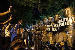 George Floyd protests in Washington DC. H St. Lafayette Square on 30 May 2020 - RP1 3245.jpg
