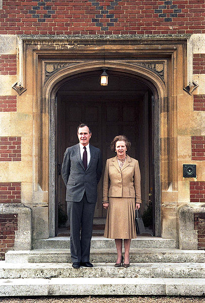 File:George H. W. Bush and Margaret Thatcher at Chequers.jpg