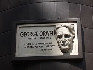 George Orwell in Hampstead On the corner of Po...