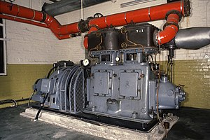 High-speed steam engine - Late Ashworth and Parker generating set, installed in 1988