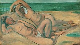 Dvě dívky na pláži