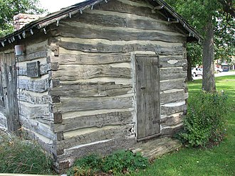 Atlantic, Iowa - Gingery Log cabin, Atlantic, Iowa