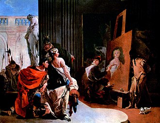 Apelles - Alexander the Great and Campaspe in the studio of Apelles, by Giovanni Battista Tiepolo.
