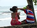 Girl and Boy on Ramparts - Galle - Sri Lanka (14029904292).jpg