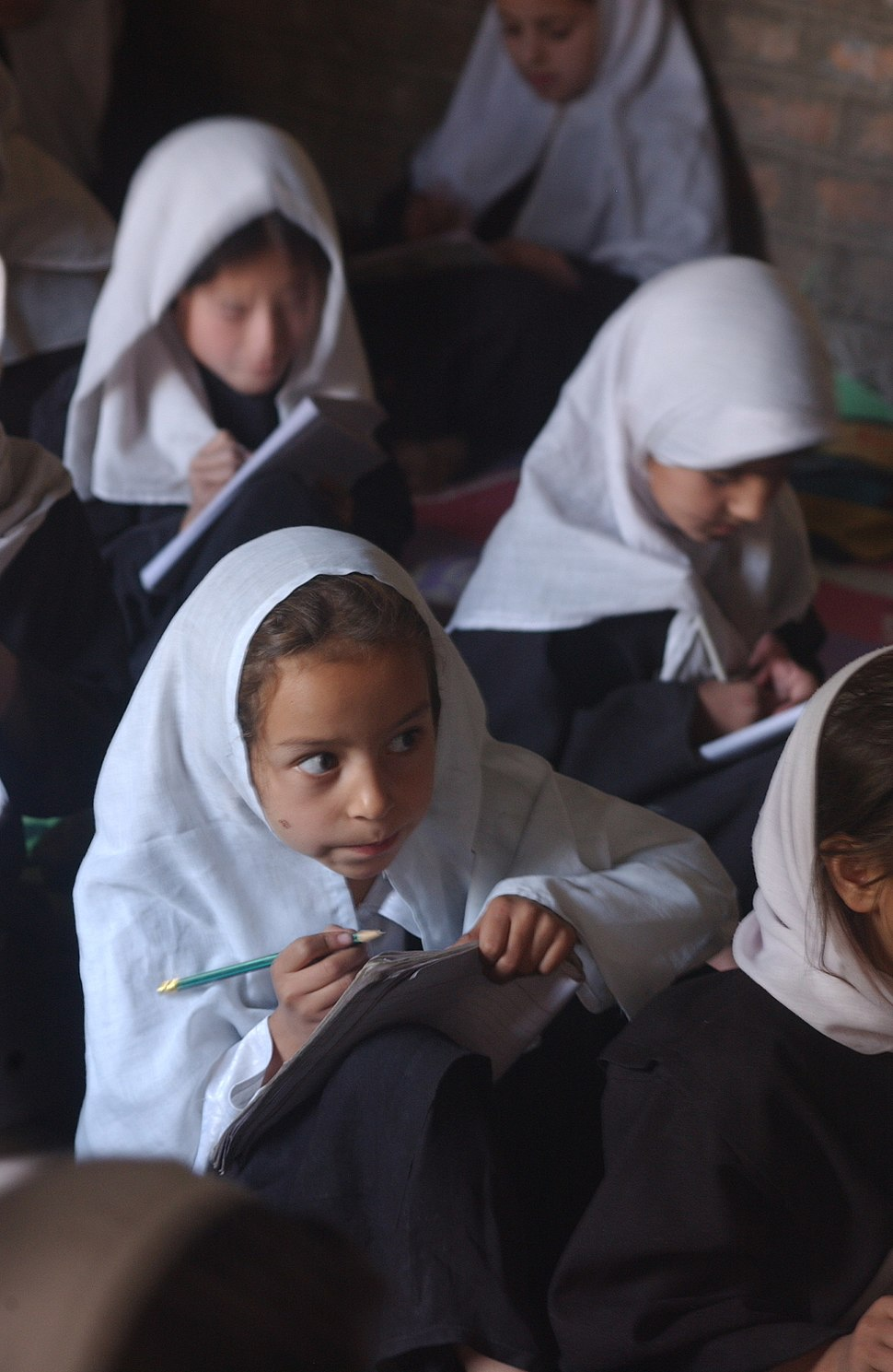 Girls' classroom in Afghanistan
