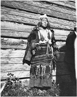 Shamanic music - Gitksan shaman with rattle