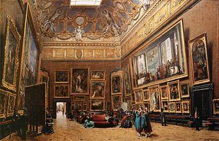 Vue du salon carré au musée du Louvre