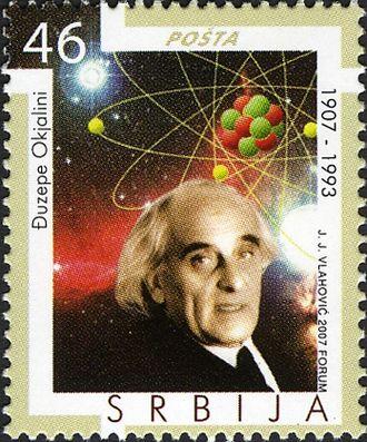 Giuseppe Occhialini - Giuseppe Occhialini on a 2007 Serbian stamp
