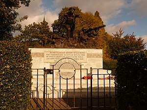 Cameronians (Scottish Rifles) - The Cameronians War Memorial in Kelvingrove Park