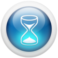 Glossy 3d blue hourglass no shadow.png
