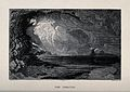 God creates light over the waters. Wood engraving by Thompso Wellcome V0034165.jpg