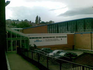 Goodwin Sports Centre - The S10health Fitness Centre and Cofield Swimming pool buildings.