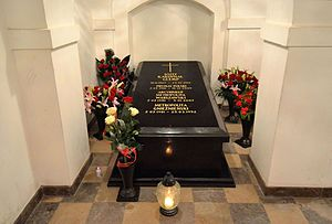 Józef Glemp - Tomb of Józef Glemp in St. John's Cathedral in Warsaw
