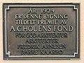 Grand Hotel Terminus (1928) Bergen Norway 2016-10-18 A. C. Houens fond plaque 1929.jpg