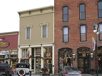 Grand Rapids, Ohio - Businesses in downtown Grand Rapids.