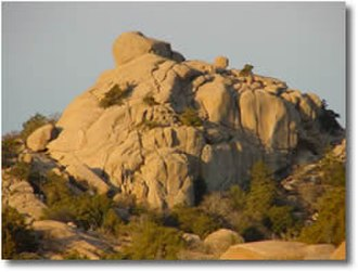 Wichita Mountains - Granite knob in the Wichita Mtns.