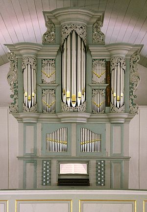 Grasberg - Pipe organ by Arp Schnitger in the Lutheran church.