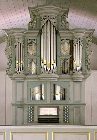 Grasberg - Pipe organ by Arp Schnitger in the Lutheran church.