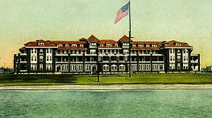 Historic Grand Hotels on the Mississippi Gulf Coast - Great Southern Hotel in 1906, as viewed from the Mississippi Sound