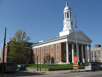 Waynesburg, Pennsylvania - Greene County Courthouse in downtown Waynesburg