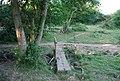 Greensand Way crosses a footbridge, east of Dale Farm - geograph.org.uk - 1382029.jpg
