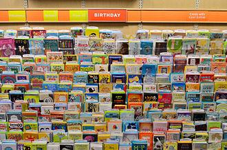 Greeting card - Birthday cards up close.