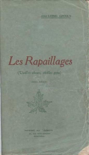 File:Groulx - Les rapaillages, 1916.djvu