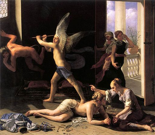 Guido Cagnacci - Martha Rebuking Mary for her Vanity - WGA03760