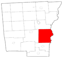 Location within Chenango County