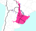 Gymnogenys group geographic range (of genus Gymnogeophagus).png